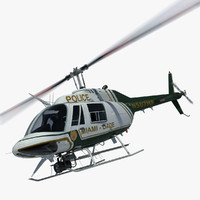 3d model bell helicopter miami police
