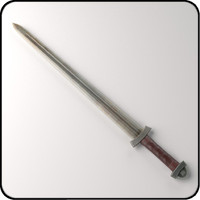 3d medieval viking sword