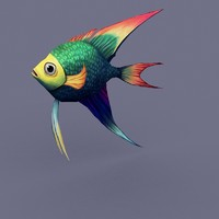 3d model of fish rainbow