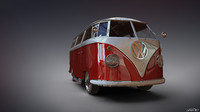 3d model volkswagen camper van featured