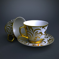 tea set 01 3d max