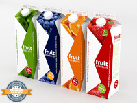 fruit carton 4 3d model