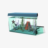 3d fish tank model
