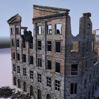 3d model of building ww2