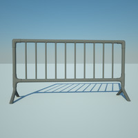metal barrier 3ds