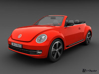 3ds volkswagen beetle convertible 2013