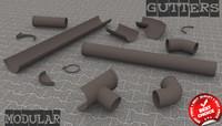 3ds rain gutter -