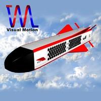 3d model iranian 184 kite