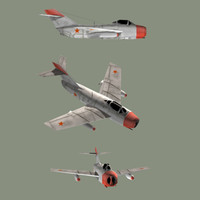 3dsmax cold fighter mig-15s