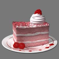 3d pink cake