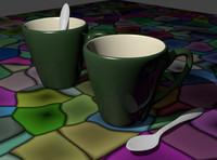 3d model mug spoon