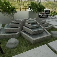desert spring fountain 3d model