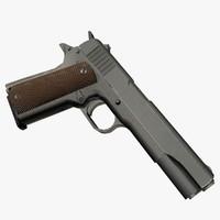 m1911a1 pistol 3d max