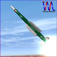ra missile iranian 3d dxf