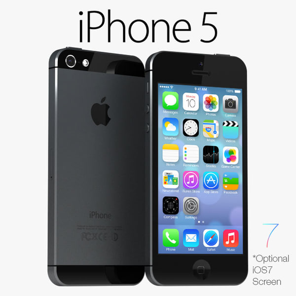 apple iphone 5 black 3d max - iPhone 5 Black & White... by sweiry_tv