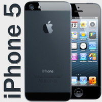 new iphone 5 3d obj