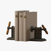 vise bookends books 3d max