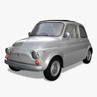 fiat 500 1970 car 3d model