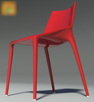 chair outline red 2012 3d max