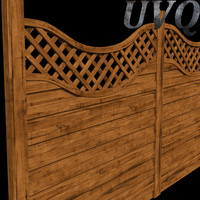 wood fences 3d model