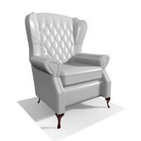 classic 1 seater leather chair 3ds