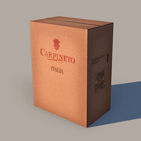 cardboard wine box obj