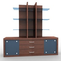 wardrobe kitchen living 3d max