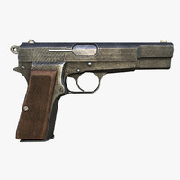 3d model browning hp