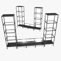 3d model ikea tv storage set