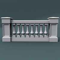 3ds max balustrade architectural