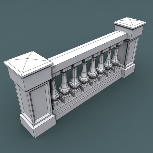 3ds max balustrade architectural for Architecture 3ds max