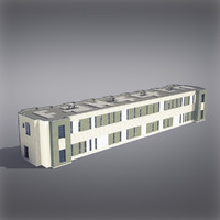 3d modern generic building architectural