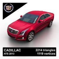 3d model 2013 cadillac ats sedan