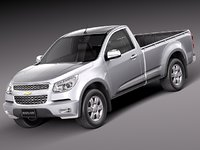 3d model of chevrolet colorado 2012 regular