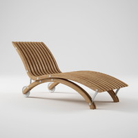 Diamond Teak Chaise Lounge