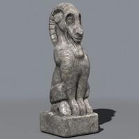 3d model of statue goat