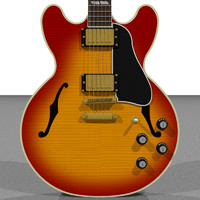 gibson es hollow body 3d c4d