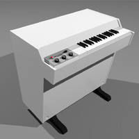 3d model of mellotron vintage keyboard