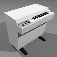 3d mellotron vintage keyboard