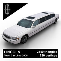 3d model 2003-2011 town car limousine