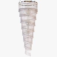 Ochre - Spiral chandelier