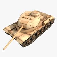 is-1 soviet tank 3d obj