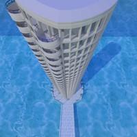 city tower obj