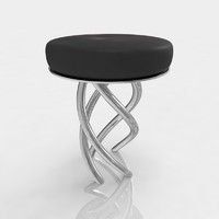 3d bar stool leather
