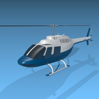 helicopter bell 206 3d obj