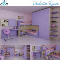 3d kids children room scene