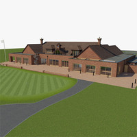 3d model golf resort