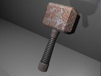 3d model blacksmiths hammer