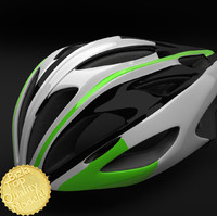 3d bell alcherra racing bike helmet model