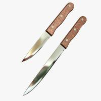 3d knife kitchen wood